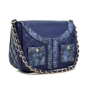 Handbags - Quilted Jacket Effect Shoulder Bag